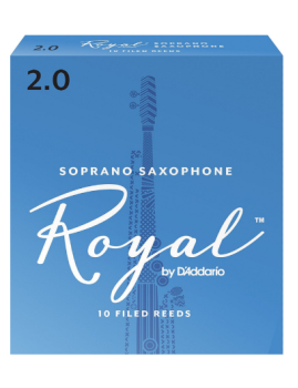 D'Addario Rico Royal Soprano Sax Reeds Box of 10 Strength #3