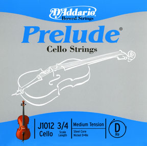 D'Addario Prelude 3/4 size Cello D String